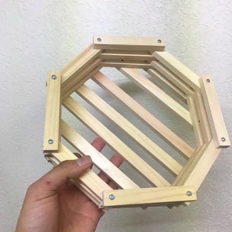 ビカクのための木製バスケットを作ってみた。