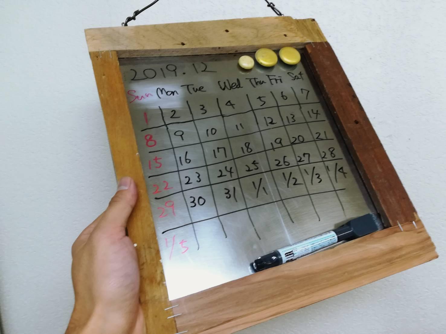 「万年カレンダー」を手作りする!端材でビンテージ風簡単DIY!